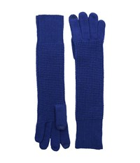 Lauren Ralph Lauren Baby Waffle Stitch Long Touch Glove Blue Wool Gloves