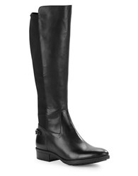 Karl Lagerfeld Murrie Leather Riding Boots Black