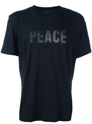 John Varvatos 'Peace And Freedom' T Shirt Black