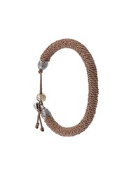 M Cohen M. Woven Bracelet Nude And Neutrals