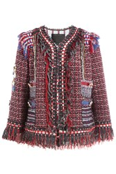 Marc Jacobs Embellished Wool Jacket Red