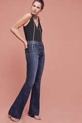 Anthropologie Mother Pixie Cruiser Mid Rise Flare Jeans Twilight Magic
