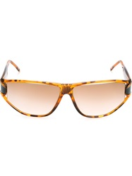 Givenchy Vintage Tortoise Shell Effect Sunglasses Nude And Neutrals