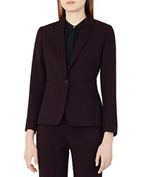 Reiss Camila Textured Blazer Grape