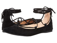 Steve Madden Eleanorr Black Suede Women's Flat Shoes