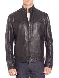 Strellson Deeray Leather Jacket Black