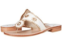 Jack Rogers Nantucket Gold White Gold Women's Sandals