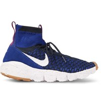 Nike Footscape Magista Flyknit High Top Sneakers Blue