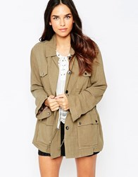 Jovonna Safari Jacket Khaki