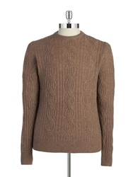 Black Brown Cableknit Cashmere Sweater Copper