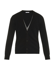 Tomas Maier Double Layer Cashmere Cardigan
