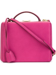 Mark Cross 'Grace' Box Bag Pink And Purple