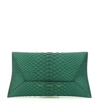 Vbh Manila Python Clutch Bag Female Pine