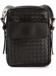 Bottega Veneta Woven Small Messenger Bag Black