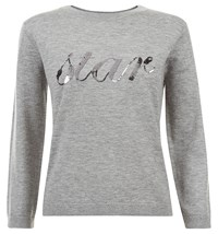 Hobbs Star Sweater Grey