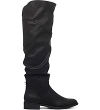 Miss Kg Willa Slouchy Over The Knee Boots Black