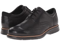 Rockport Total Motion Fusion Wing Tip Black Men's Lace Up Wing Tip Shoes