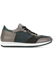Philippe Model Panelled Low Top Sneakers Grey