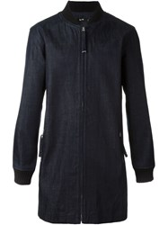 Blood Brother Denim Ribbed Collar Coat Blue