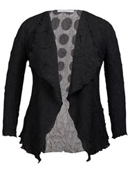 Chesca Spot Print Shrug Black