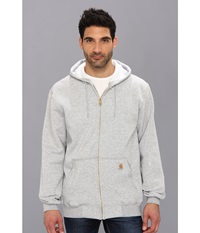 Carhartt Mw Hooded Zip Front Sweatshirt Heather Gray Men's Sweatshirt