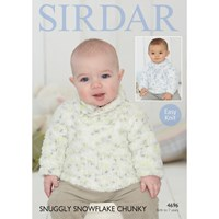 Sirdar Snuggly Snowflake Chunky Baby Jumper Knitting Paper Pattern 4696