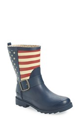 Chooka Women's 'Election' Mid Height Rain Boot Navy Matte