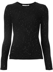 Carolina Herrera Paillette Jumper Black