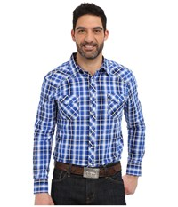 Rock And Roll Cowboy Long Sleeve Snap B2s6269 Blue Men's Long Sleeve Button Up