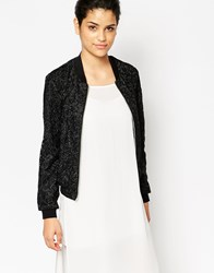 Frankie Morello Lauretta Lace Jacket Black