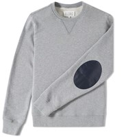 Maison Martin Margiela Maison Margiela 14 Elbow Patch Crew Sweat Grey
