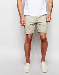 Asos Slim Chino Shorts In Light Green Aluminium