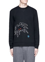 Lanvin 'Groovin Spider' Embroidered Sweatshirt Black