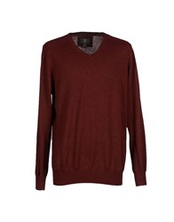 Timberland Knitwear Jumpers Men Maroon
