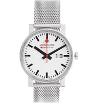 Mondaine Evo Big Date Stainless Steel Watch Silver