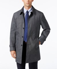 Tommy Hilfiger Men's Sharkskin Raincoat Grey