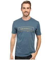 Merrell M Stamped Tee Blue Spruce Men's T Shirt Olive