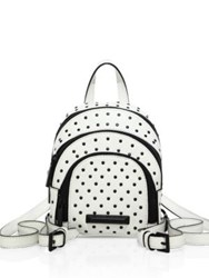 Kendall Kylie Sloane Nano Studded Leather Backpack White