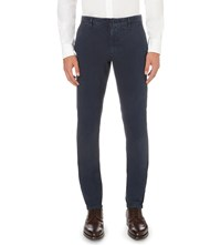 Slowear Slim Fit Tapered Stretch Cotton Chinos Blue