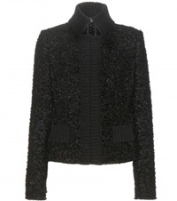 Dolce And Gabbana Mohair Blend Boucle Jacket Black