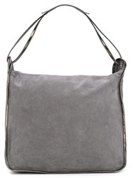 Maison Martin Margiela Mm6 Maison Margiela Metallic Handle Hobo Tote Grey