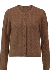 Etro Cable Knit Cashmere Cardigan Light Brown