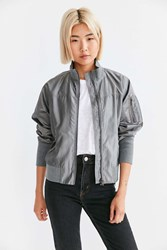 Silence And Noise Frankie Bomber Jacket Silver