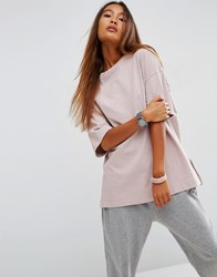 Asos Top In Oversized Boxy Fit Mink Pink