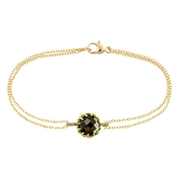 London Road Bloomsbury 9Ct Gold Chequer Cut Garnet Coronation Bracelet
