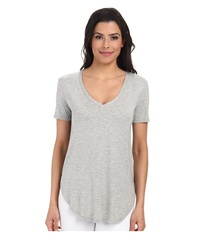 Culture Phit Preslie Cap Sleeve Modal V Neck Top Heather Grey Women's Clothing Gray