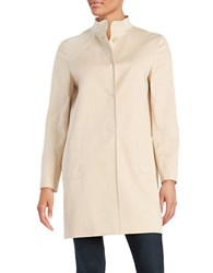 Cinzia Rocca Faux Suede Panelled Trench Coat Sand