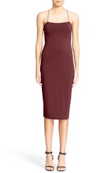 Alexander Wang Women's T By Stretch Modal Camisole Body Con Dress Wine