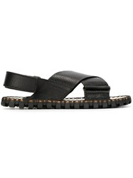 Valentino Garavani Crisscross Sandals Black