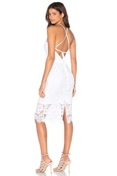 Lover Oasis Halter Dress White